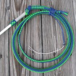 5 Foot Neon Green & Royal Blue Stockwhip