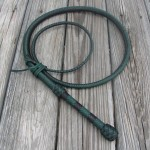 6ft green black bullwhip
