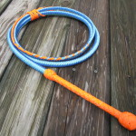 Blue Coral Snake, 12 plait bullwhip with reflective tracer cord (one of a kind)
