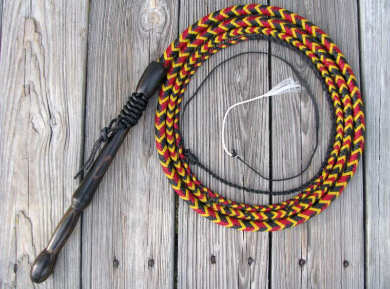 how to make a bullwhip with nylon rope