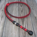 Fancy plait bullwhip with collar